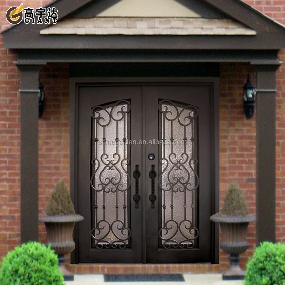 Customize metal exterior door gyd 15d0528 buy iron main for Metal french doors exterior