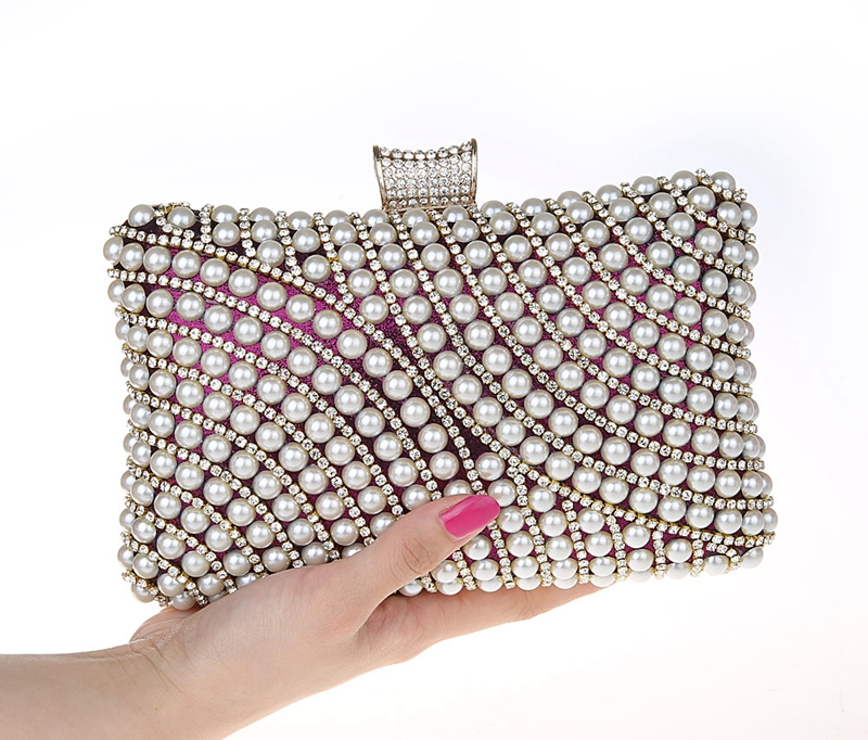 2015 Best Seller clutch fashion lady bags made of beads