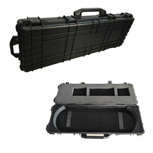 Hard plastic hunting bow case with customized foam