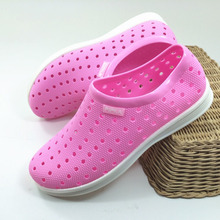 Breathable Women Loafers Cutouts Slip on PVC Ladies Summer Shoes Holes Lady Beach Shoes Injected Clogs Garden Shoes