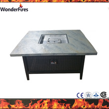 48 inch Outdoor Square GFRC gas Fire Pit table
