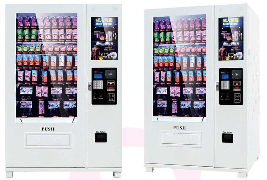 Adult product combo vending machine with 22inch advertisement display screen