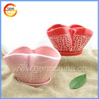 mini pink heart shaped flower pot sale for home decor