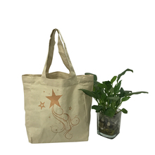Custom printed canvas tote bags black eco organic cotton bag