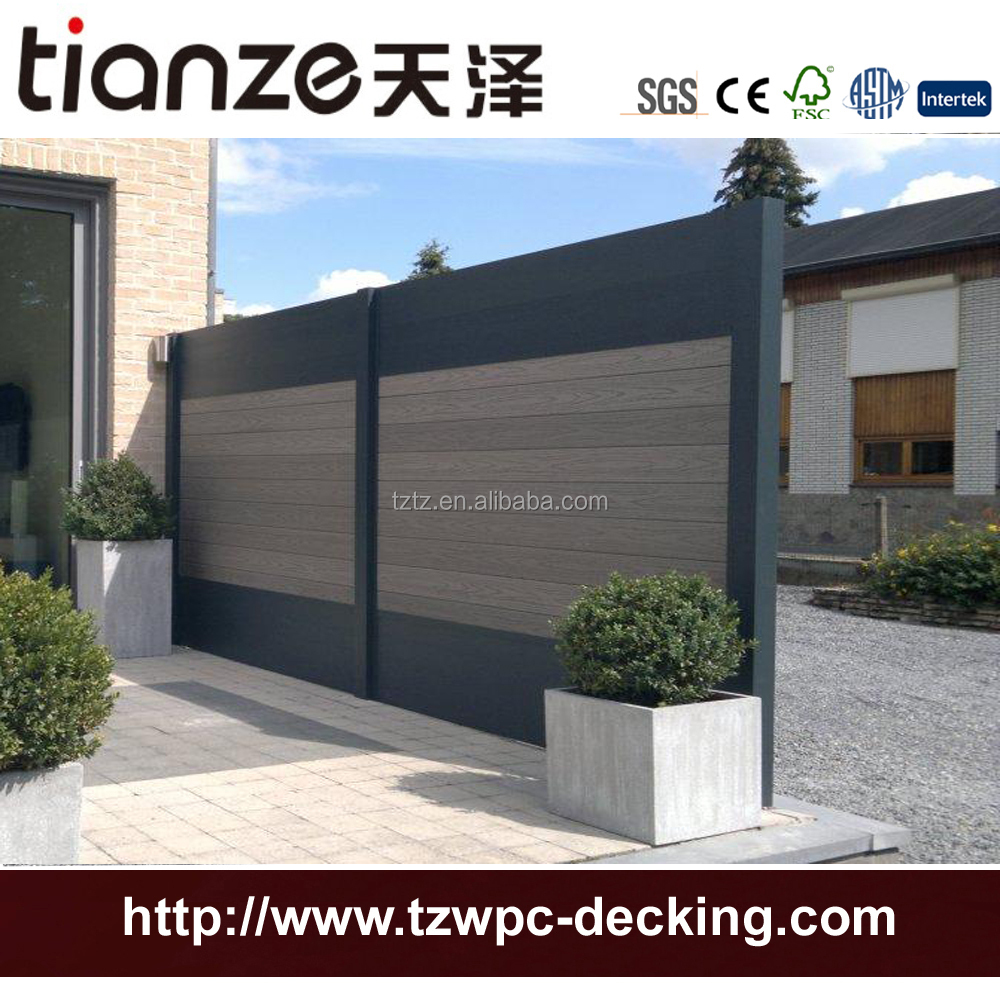2017 plastic composite decking wpc outdoor farm fencing