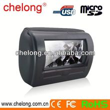 7'' Motorized slide shield Headrest touch screen car dvd player for skoda