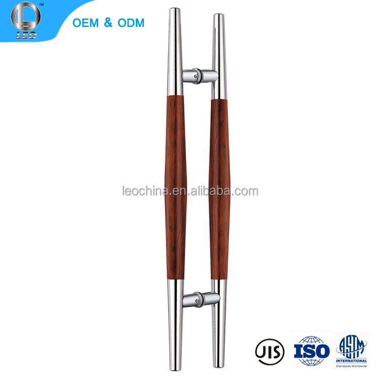 L-1249 hot sale wood sliding glass door handle stainless steel