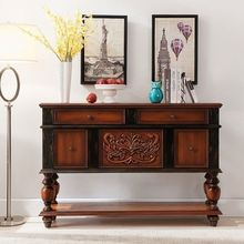 Wall Mounted Wood Living Room Cabinet