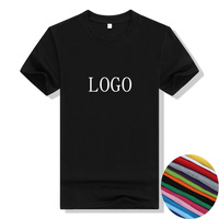 Custom Logo Print Free T Shirt O Neck Adult Men Women Cotton Short Sleeve T-Shirt Custom Personalized Print