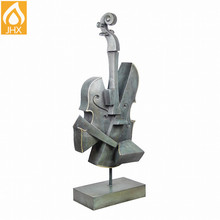 Prompt Goods Home Decoration Brass Cello Violin Bronze Sculpture