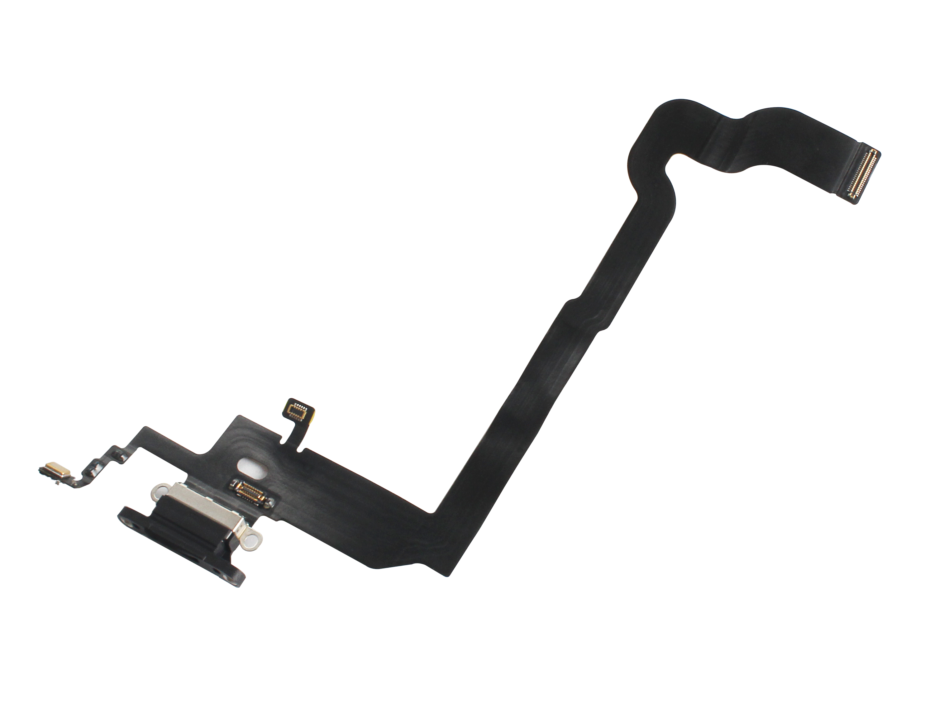 For iPhone X  Charging Port - Replacement Charger Flex Cable USB Dock Mic Black