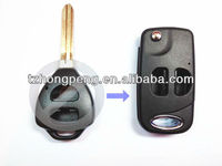 2 button modified flip car remote key blank for toyota corolla key cover