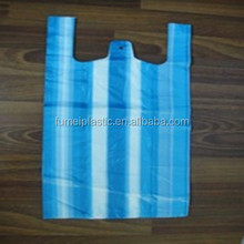 Small HDPE striped T-shit plastic bags