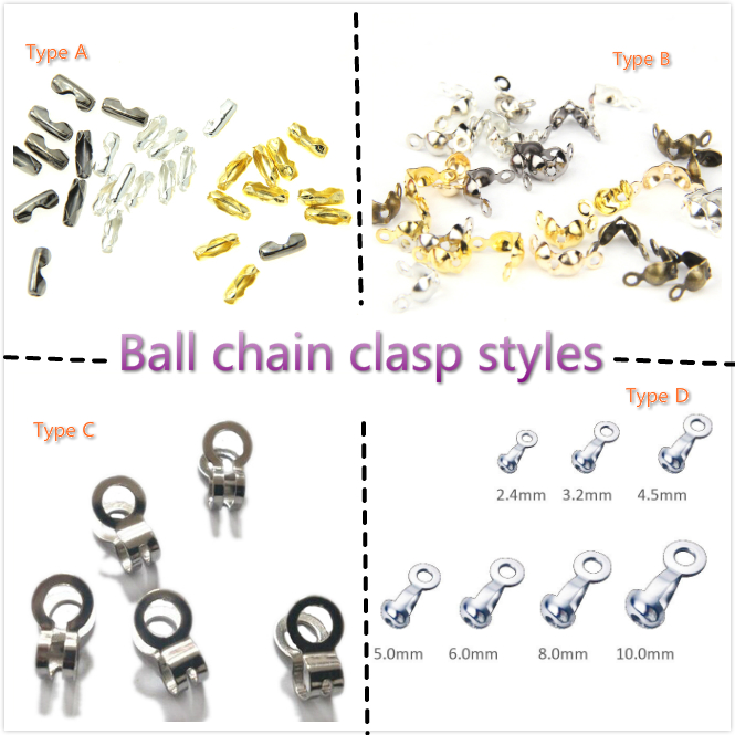 2.4mm Stainless Steel ball chain for dog tag/label/necklace stainless steel ball chain metal ball chain necklace