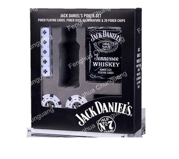 Premium Jack Daniels Poker Chip Set with Poker and Dice