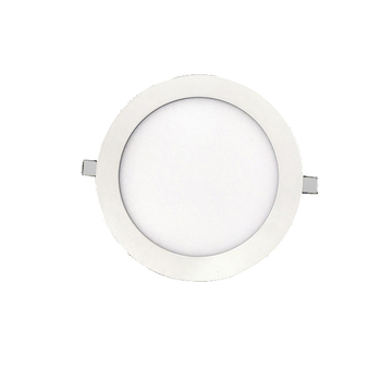 ip44 18w ultra-thin led recessed panel light fixtures flat circle dimmable white led suspended light guide panel