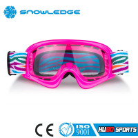 Silicone color strap motorcycles x-racer clear lens motocross goggles for kids