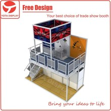 Yota offer two story booth,modular aluminum trade show booth material for exhibition stand