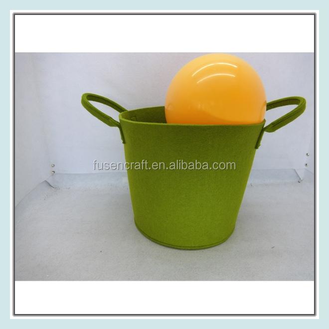 Baby Gift Baskets Empty : Decorative felt empty baby gift basket with handle