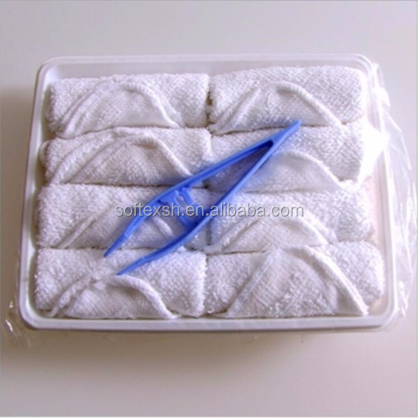 cotton disposable lemon scented airline refreshing hot towels for airplane, aviation