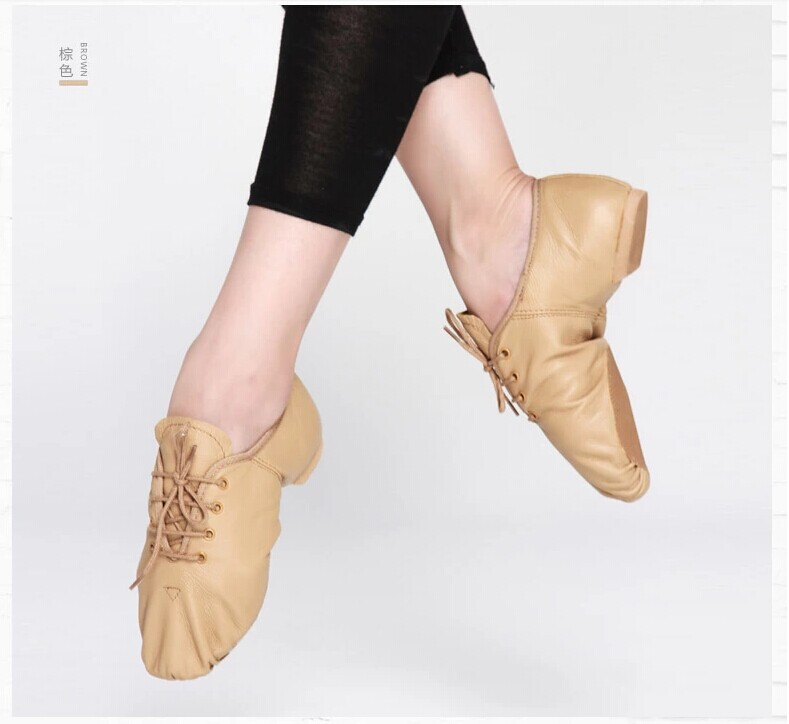 D004715 Dttrol Lace Up Split - Sole Leather Jazz Shoes