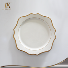 Wholesale taiyuan gold rimmed elegant charger dinner plates dishes for wedding and restaurant
