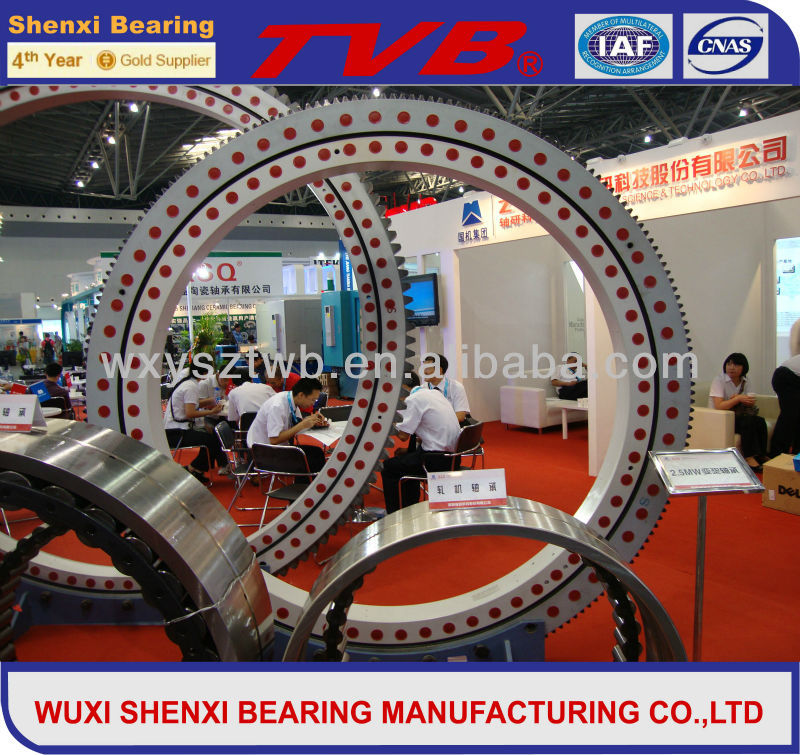 Single row crossed roller slewing bearing HJ series outer gear