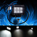 18W For Truck ATV SUV JEEP Offroad Square 4WD Bar Work Light Headlight Fog Lamp