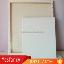 hot sale 100% cotton stretched canvas wooden blank canvas and frame
