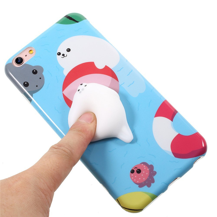 2017 Cute Animal 3D Silicone Squishy Phone Case Popular Promotion Gift Slow Rosing Phone Case For iPhone 6 /6s/7 7 plus