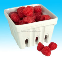 custom white glazed ceramic basket with fruit for sale