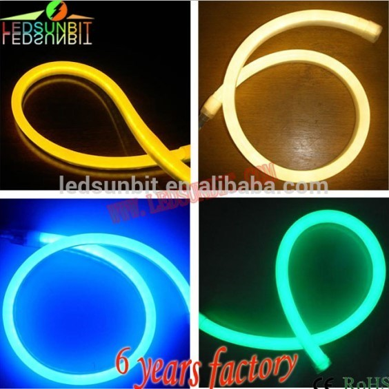 Outdoor/indoor CE RoHS certified outdoor waterproof soft pvc pixel chasing led neon flex led decoration light