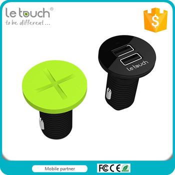 Letouch Patented Design screw dual usb hot car charger with 2.4A output