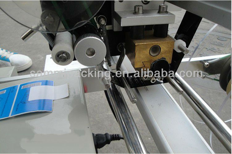Hot self adhensive label sticker, vial labeling machine with date code printer