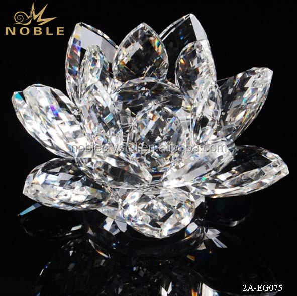 High Quality Crystal Lotus Flower As Wedding & Home Centerpieces