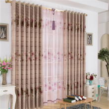 100% polyester printed blackout fabric window curtain