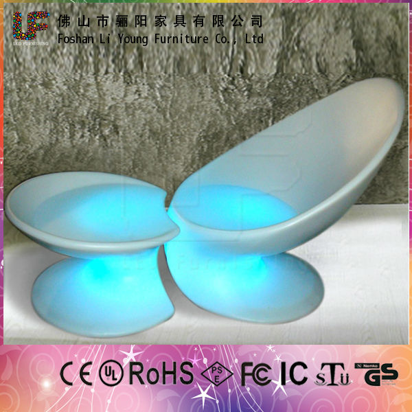 outdoor furniture 16 colors changed led outdoor furniture waterproof round chaise lounge chair