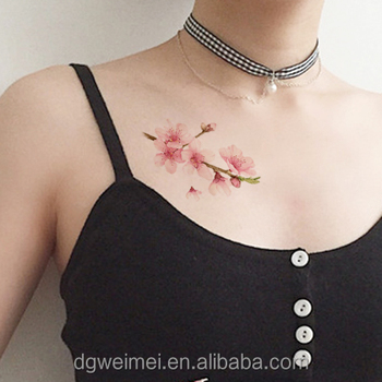 Sexy Floral Skin Safe Temporary Tattoo Stickers