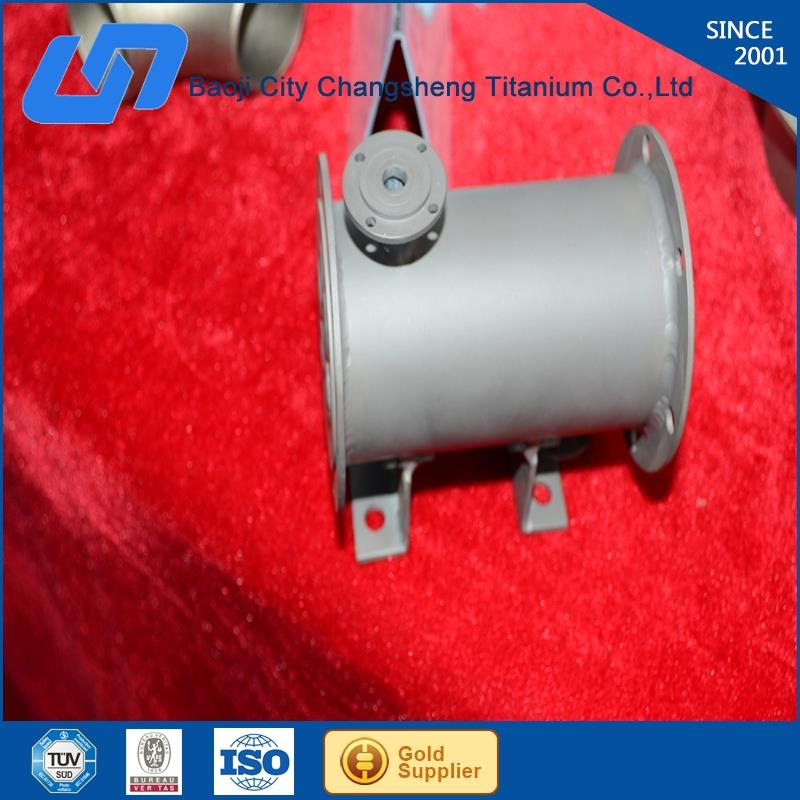gr2 pure titanium argon arc welding coaxial heat exchanger with CE certificate from Baoji