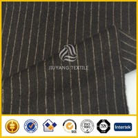coffee color stripe overcoating wool fabric/woolen fabric for coats