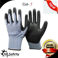 SRSAFETY super soft mesh cut resistant gloves good price/hand protection glove
