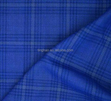 top grade worsted wool plaid fabric for sale