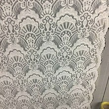 Lingerie Material Scallop Jacquard Lace Fabric for Dress
