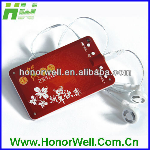 Red card mp3 with earphone and free from hot summer