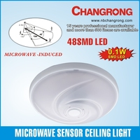 New 48SMD LED Microwave Sensor Light Ceilling Light Porch Dining Hall