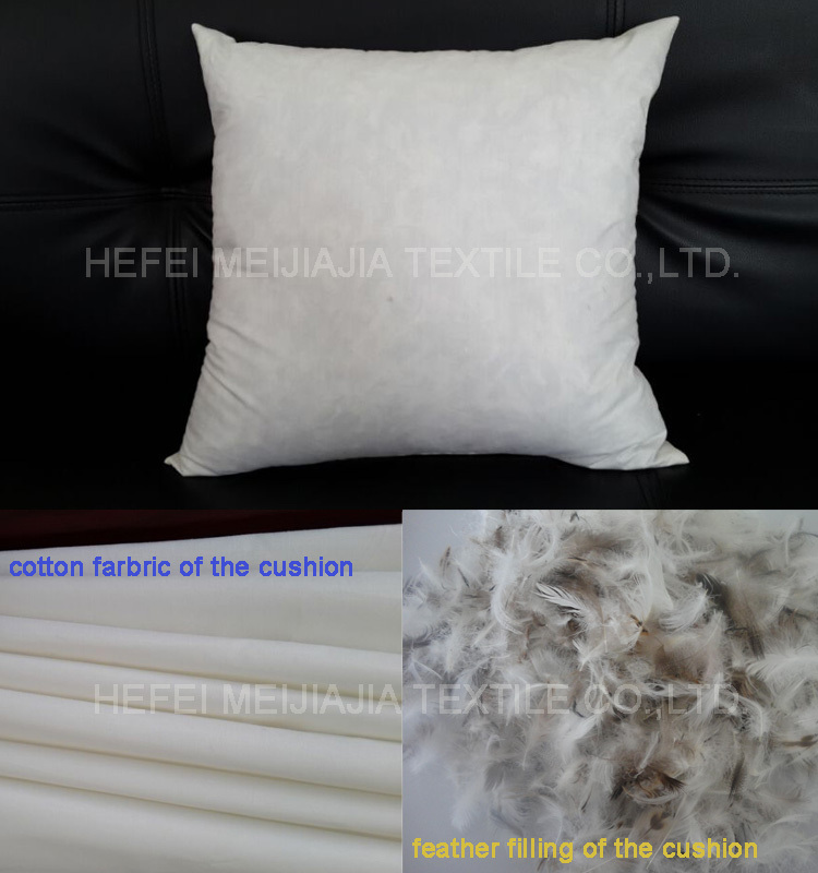 feather cushion insert or pads