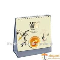 2016 simple but honour desk calendars making and designing service in guangzhou