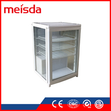 Eco-friendly SC68C three sides transparent glass door display drink fridge