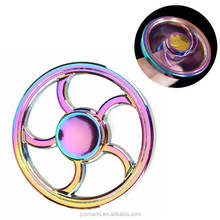 Colourful Zinc Alloy Hand Spinner fidget spinner rainbow color Long Spinning Hand Spinner