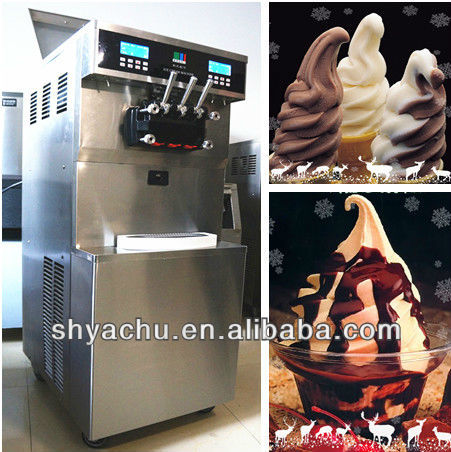 KS-7254 commercial blizzard dq ice cream machines with 3 imported Tecumseh compressors and 2 imported Mitsubishi motors